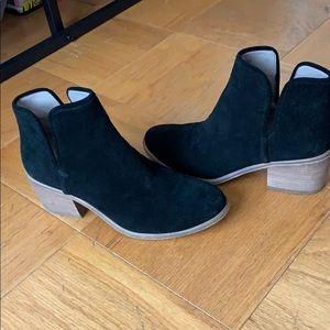 Nordstrom black suede booties